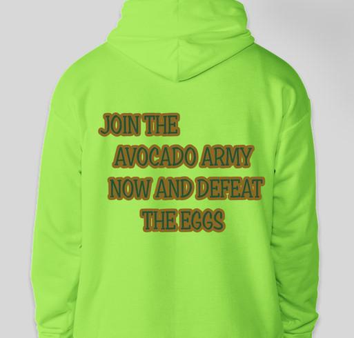 994a99ced02af Avocado Army Fundraiser - unisex shirt design - back