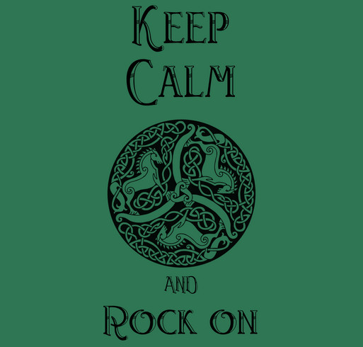 Keep Calm, Rock On! shirt design - zoomed