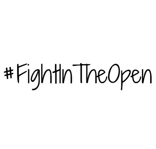 Fight in the Open With Mental Health America shirt design - zoomed