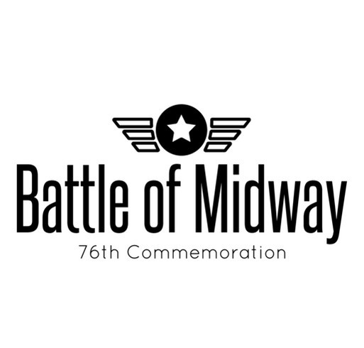Battle of Midway 76th Commemoration (Front Logo Only) shirt design - zoomed