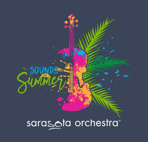 Celebrate the Sounds of Summer at Sarasota Orchestra shirt design - zoomed