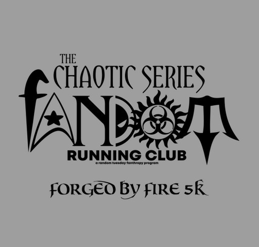 Forged by Fire 5k shirt design - zoomed