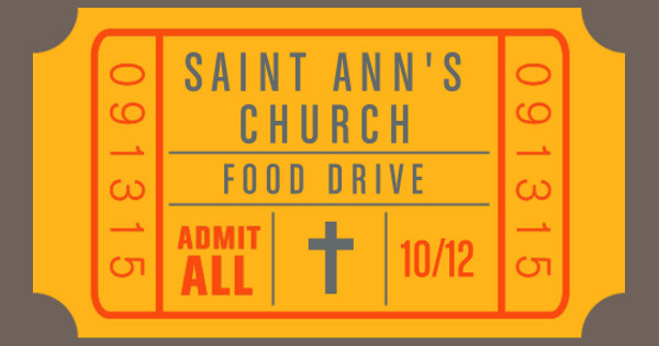 Saint Ann's Food Drive