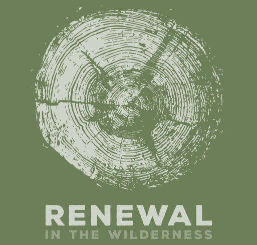 Renewal in the Wilderness shirt design - zoomed