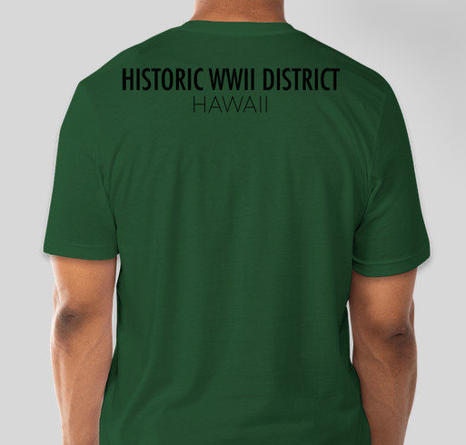 Historic WWII District: Battle of Midway 76th Commemoration Fundraiser - unisex shirt design - back