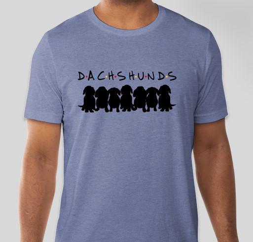 Dachshund Friends! Fundraiser - unisex shirt design - front