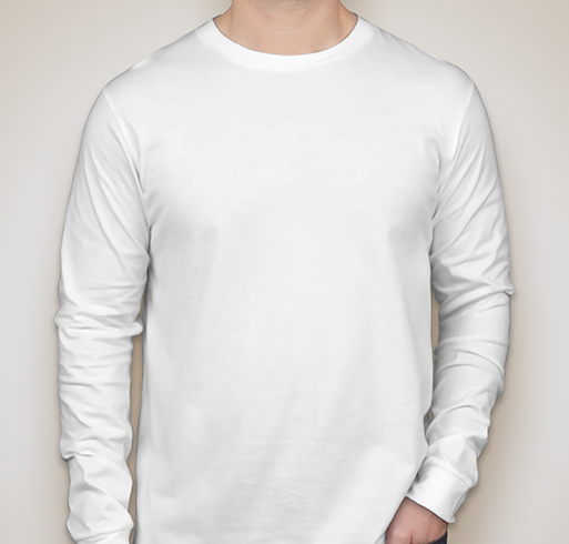 Canvas Long Sleeve Jersey T-shirt - White
