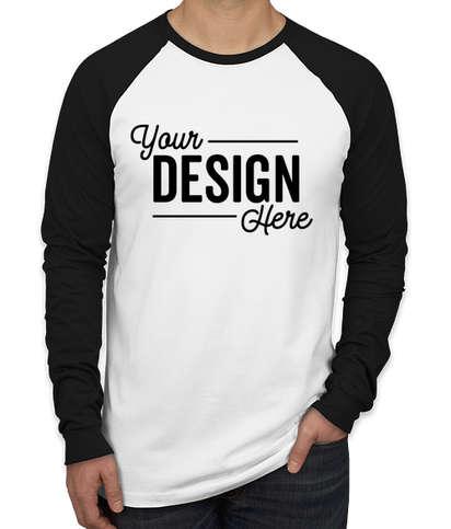 Bella + Canvas Long Sleeve Raglan T-shirt - White / Black