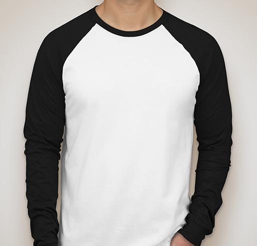 Canvas Long Sleeve Raglan - White / Black