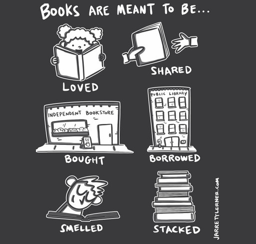 Books are meant to be... shirt design - zoomed