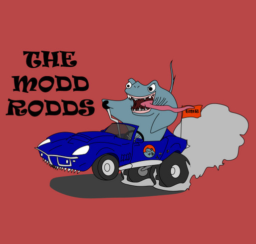 The Modd Rodds Holiday Campaign shirt design - zoomed