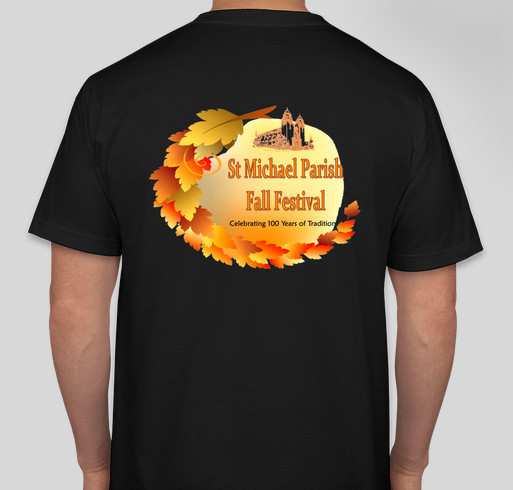 St Michael Parish Centennial Celebration Fundraiser - unisex shirt design - back