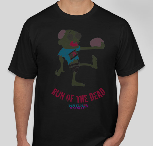 The Striding Dead Fundraiser - unisex shirt design - front