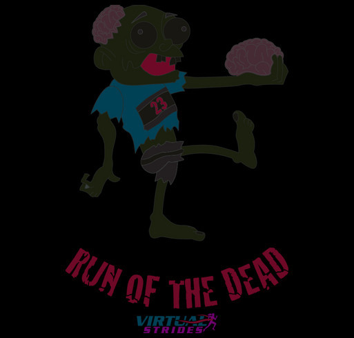 The Striding Dead shirt design - zoomed