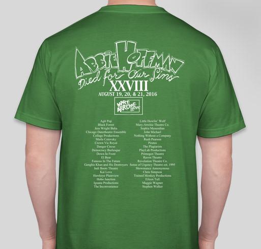 Official Abbie Fest XXVIII T-shirt Fundraiser - unisex shirt design - back