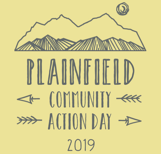 Plainfield Community Action Day shirt design - zoomed