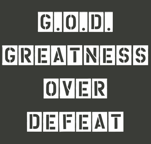 Greatness Over Defeat shirt design - zoomed