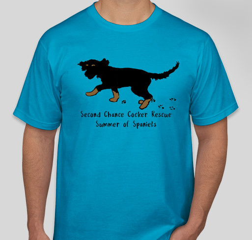 Summer of Spaniels - Second Chance Cocker Rescue Fundraiser - unisex shirt design - front