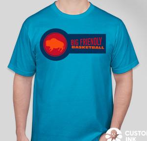 Anvil Jersey T-shirt — Caribbean Blue