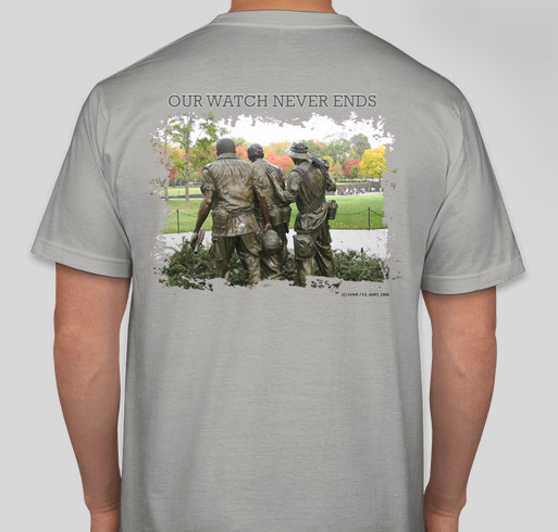 35th Anniversary of the Three Servicemen Statue Fundraiser - unisex shirt design - back