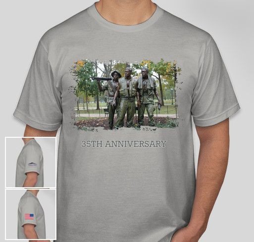 35th Anniversary of the Three Servicemen Statue Fundraiser - unisex shirt design - front