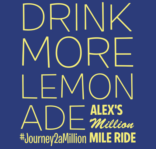 Alex's Million Mile - Team Booster shirt design - zoomed