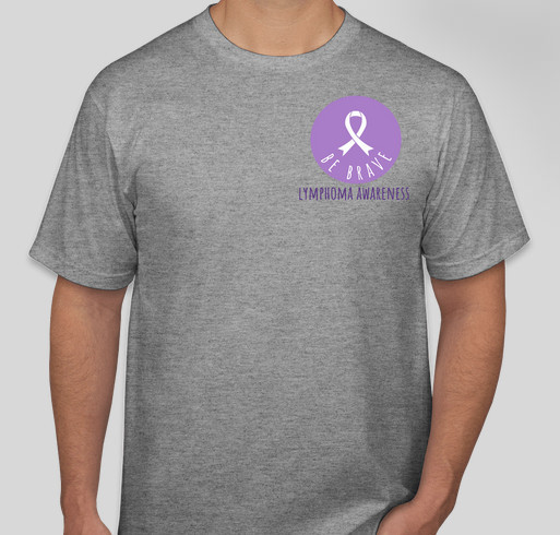 BE BRAVE T-SHIRT SALE in honor of Lily Cain Fundraiser - unisex shirt design - front