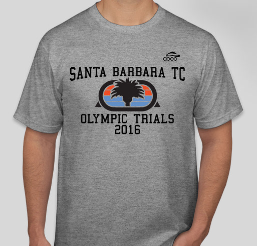 Santa Barbara Track Club - Olympic Trials 2016 Fundraiser - unisex shirt design - front