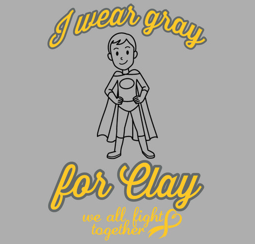 Wear GRAY for CLAY T-shirts and Tanks shirt design - zoomed