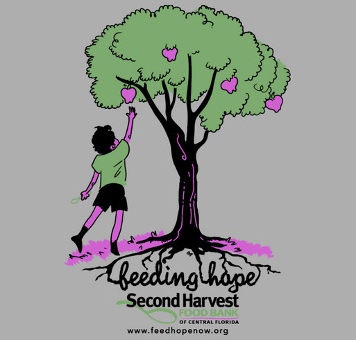 Second Harvest Food Bank of Central Florida shirt design - zoomed