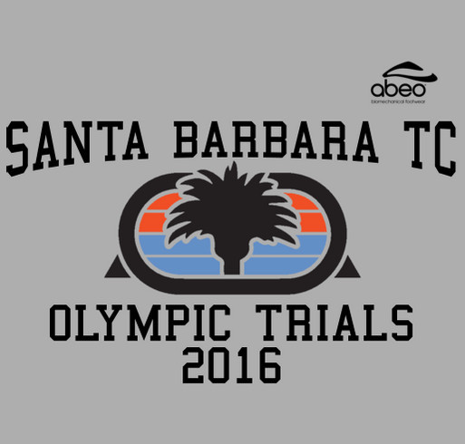 Santa Barbara Track Club - Olympic Trials 2016 shirt design - zoomed