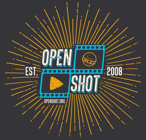 OpenShot Video Editor Spring 2019 Fundraiser! shirt design - zoomed