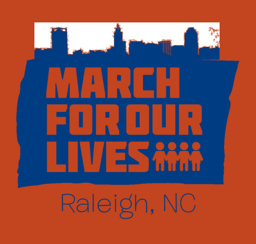 March For Our Lives - Raleigh shirt design - zoomed