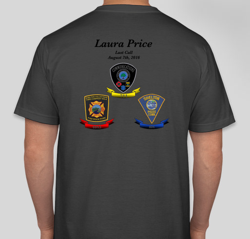 Laura Price Last Call 08/07/2016 Fundraiser - unisex shirt design - back
