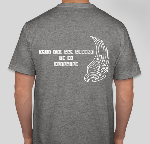 Greatness Over Defeat Fundraiser - unisex shirt design - back
