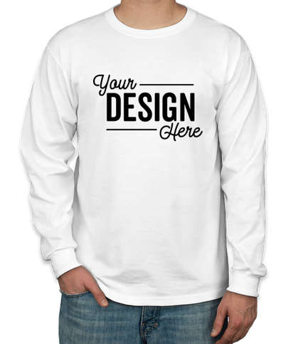 Jerzees 50/50 Long Sleeve T-shirt - White