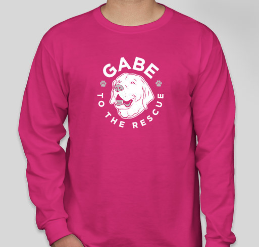 I support Gabe to the Rescue! Fundraiser - unisex shirt design - front