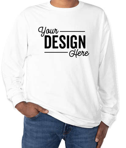 Hanes Authentic Long Sleeve T-shirt - White