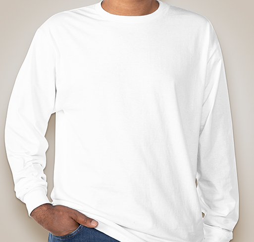 Hanes Long Sleeve Tagless T-shirt - White