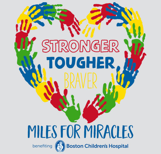 Miles for Miracles 2021 shirt design - zoomed