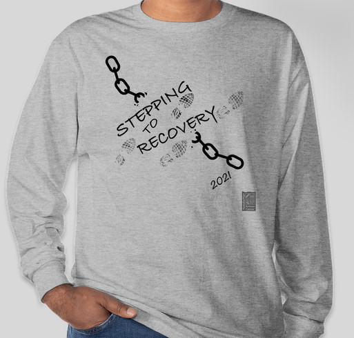 Stepping to Recovery Virtual Fundraiser Walk 2021 Fundraiser - unisex shirt design - front