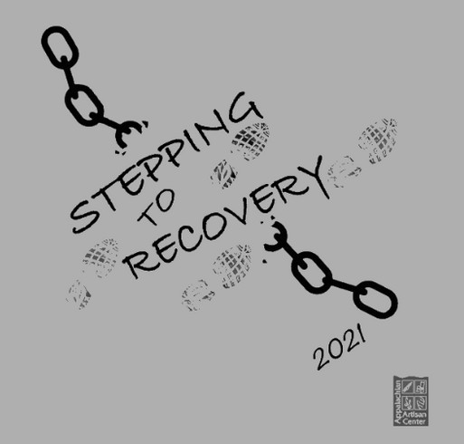 Stepping to Recovery Virtual Fundraiser Walk 2021 shirt design - zoomed