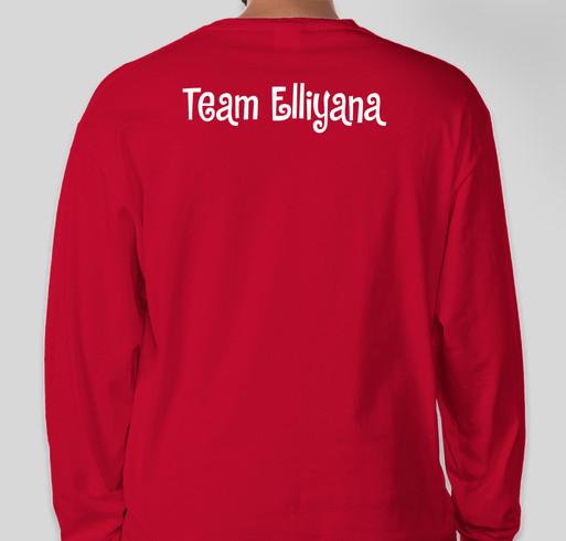 Elli's Fight Fundraiser - unisex shirt design - back