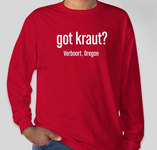 Verboort Sausage & Sauerkraut School Dinner Fundraiser - unisex shirt design - front
