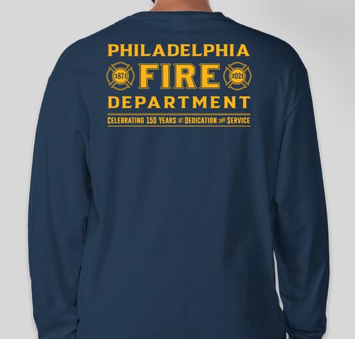 Philadelphia Fire Department 150th Anniversary Tee Fundraiser - unisex shirt design - back