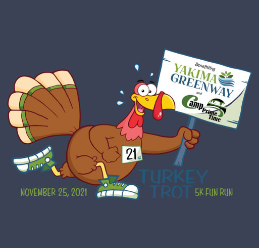 12th Annual Turkey Trot Fun Run/Walk 5K shirt design - zoomed
