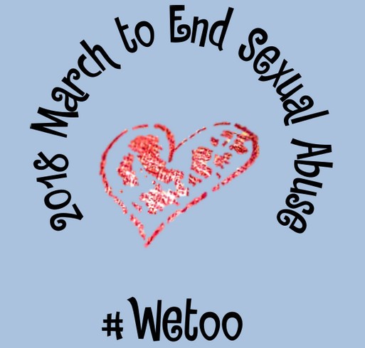 March to End Sexual Abuse #WeToo shirt design - zoomed