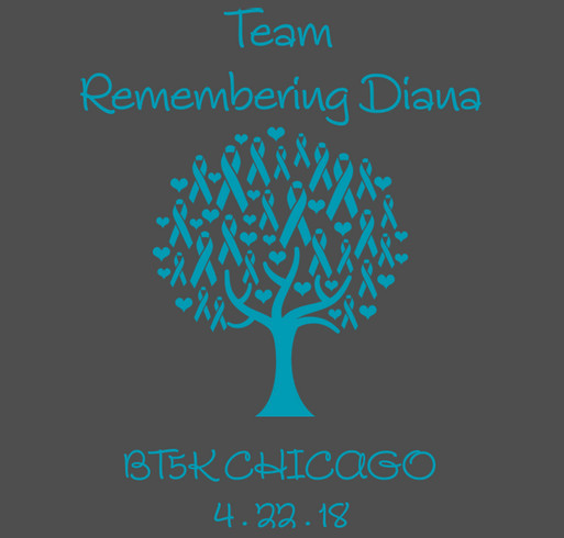 Team Remembering Diana shirt design - zoomed