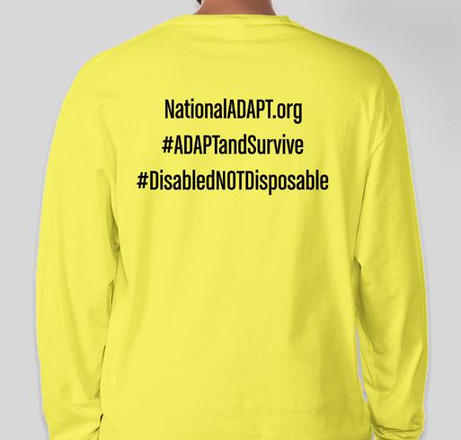 ADAPT October 2020 National Action Shirt Fundraiser - unisex shirt design - back