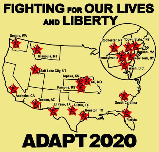 ADAPT October 2020 National Action Shirt shirt design - zoomed